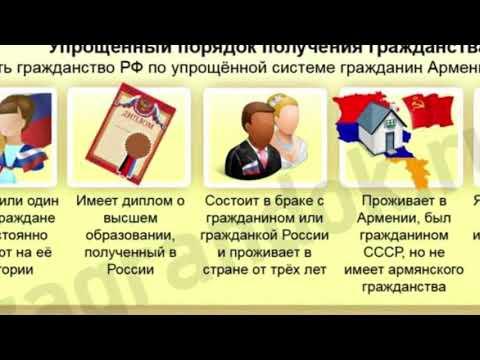 Как получить гражданство РФ гражданину Армении