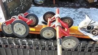 меняем пружины катков на Буран 640