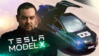 D3 Tesla Model X Черная Молния в поисках зарядки