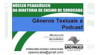 Língua Portuguesa e Tecnologia – Gêneros Textuais e Podcast - 11/2015