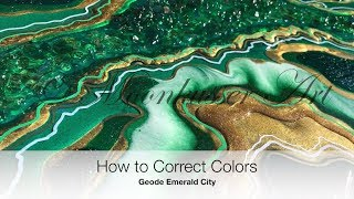 How to Correct Colors on a Resin Geode - Geode Emerald City