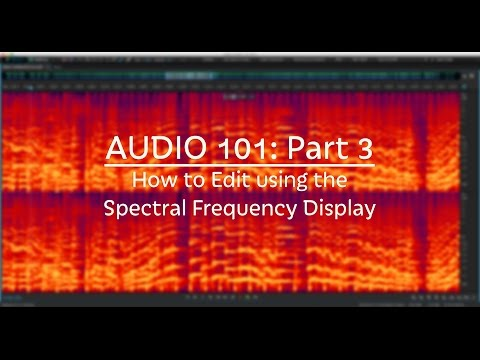 How to Edit using the Spectral Display in Audition CC (Audio 101: Part 3)