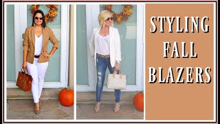 Fall Outfit Trends for Women over 40 | How to Style Blazers Lookbook