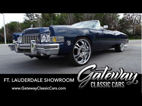 1973 Cadillac Eldorado Convertible - Gateway Classic Cars Of Ft. Lauderdale #1116