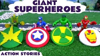 Avengers Iron Man Captain America and Hulk Play Doh Superheroes Logos Compilation with Spiderman
