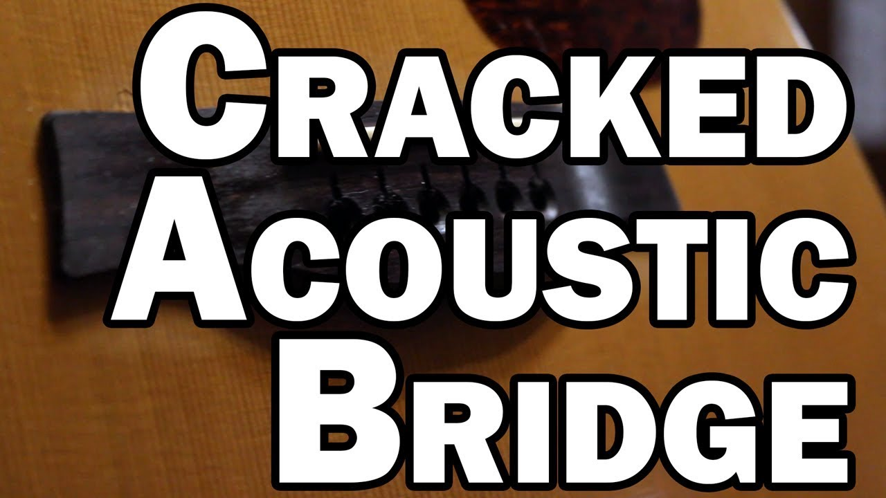 Cracked Acoustic Guitar Bridge - Seagull S6