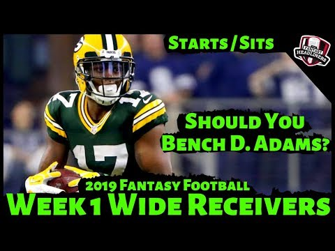 2019 Fantasy Football Advice - Week 1 Wide Receivers - Start or Sit? Every Match Up