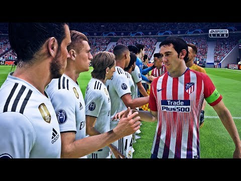 FIFA 19 - Atlético Madrid Vs Real Madrid | Gameplay HD PS4 PRO