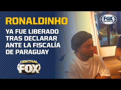 ¡Ronaldinho ya fue liberado por las autoridades paraguayas!