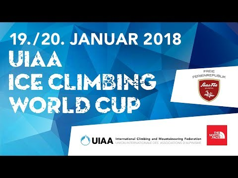 LIVE! Speed Finals l UIAA Ice Climbing World Cup 2018 l Saas-Fee, Switzerland