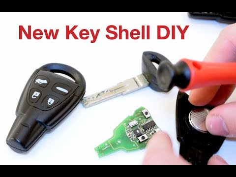 How To Change Saab Key Cover Shell DIY