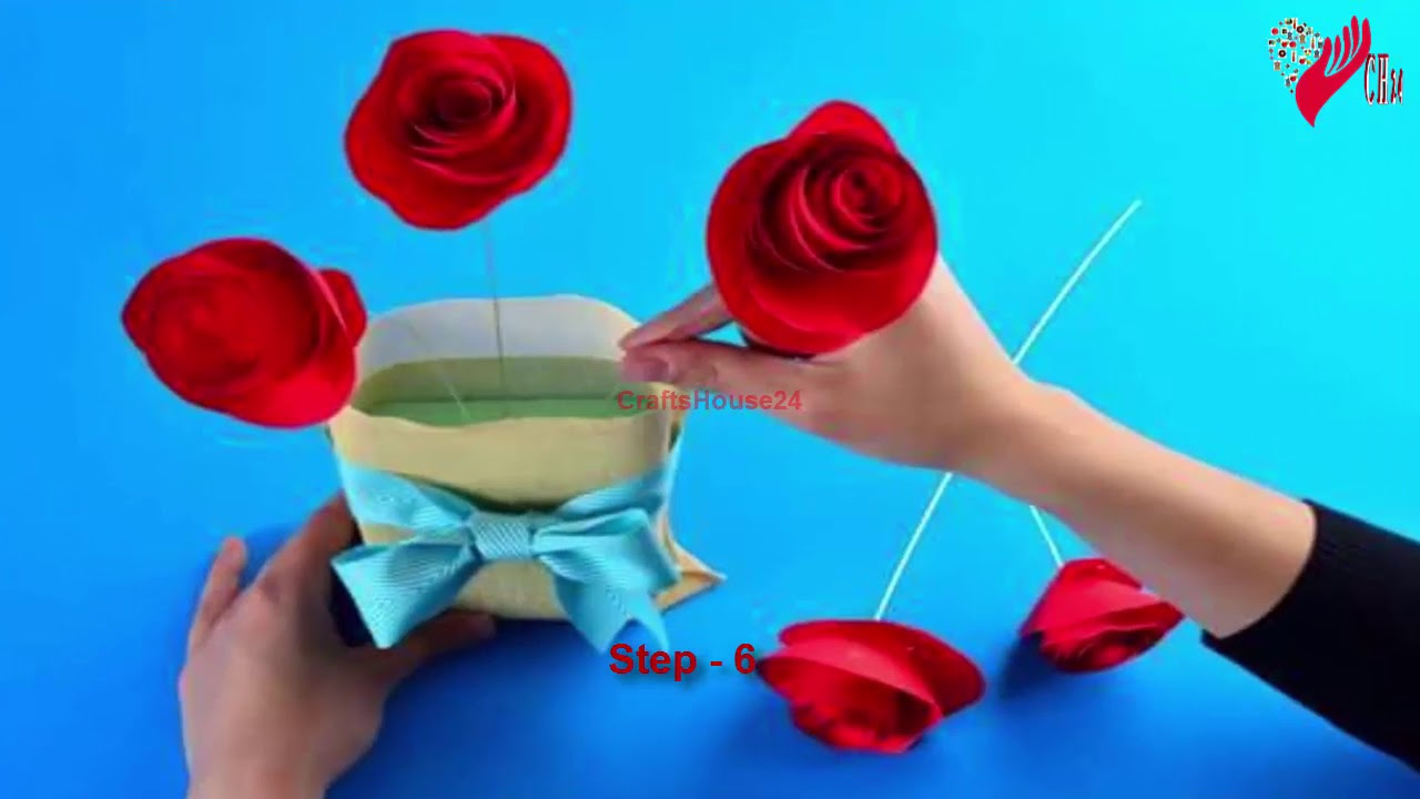 Easy rolled paper roses for birthday gift mothers day wedding easy rolled paper roses for birthday gift mothers day wedding flowers or valentines day flower 1 izmirmasajfo