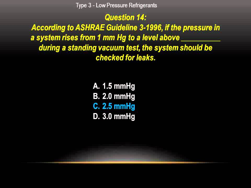 Epa Cfc 608 Type 3 Low Pressure Practice Exam Questions Youtube