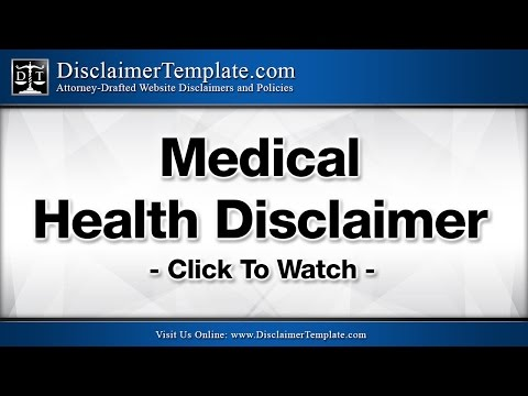Medical Health Disclaimer