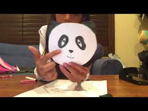 How to make a panda paper plushie- Hooked On Fun