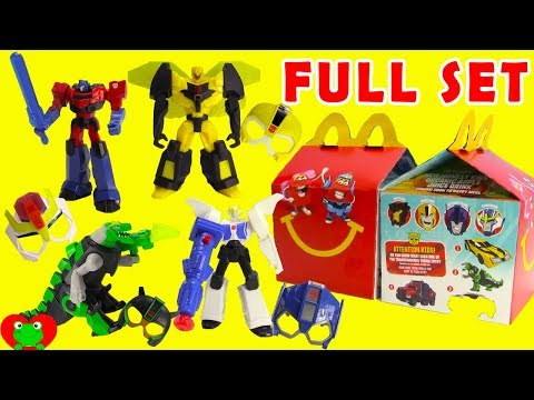 2017 Transformers McDonald's Happy Meal Toys Full Set