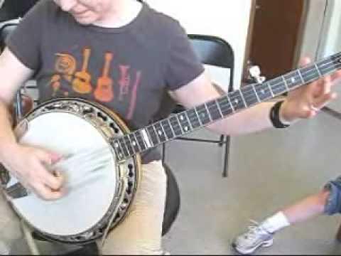 banjo lesson old time thumb lead two finger picking doovi. Black Bedroom Furniture Sets. Home Design Ideas