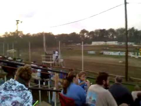 Late Model racing from Lakeville Speedway in Ohio