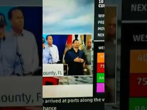 Best interpreter ever! Signs like a (Italian mob) boss! #hurricaneirma #Irma