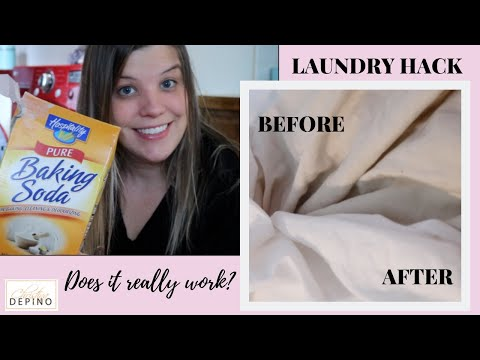 BLEACH-FREE SOLUTION TO WHITE SHEETS | WHITEN DINGY SHEETS | DO IT ON A DIME LAUNDRY HACKS