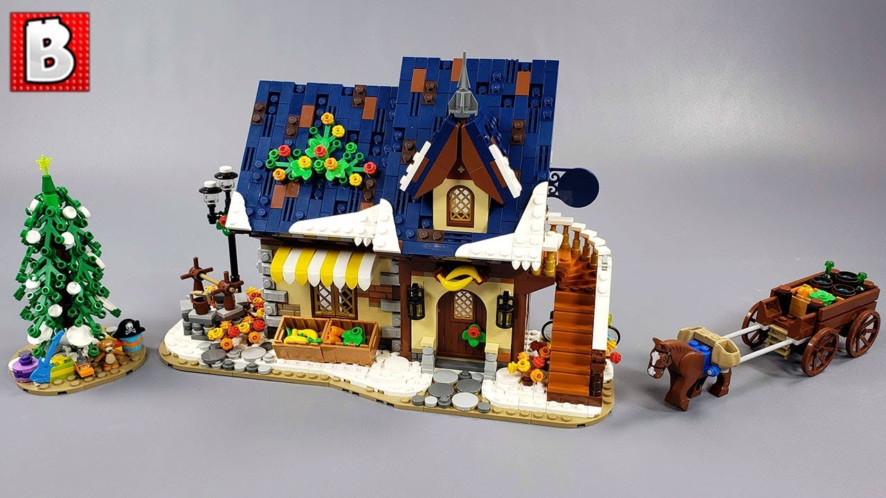 LEGO Winter Grocer Custom Creation Brings Warmth to the Holidays :)