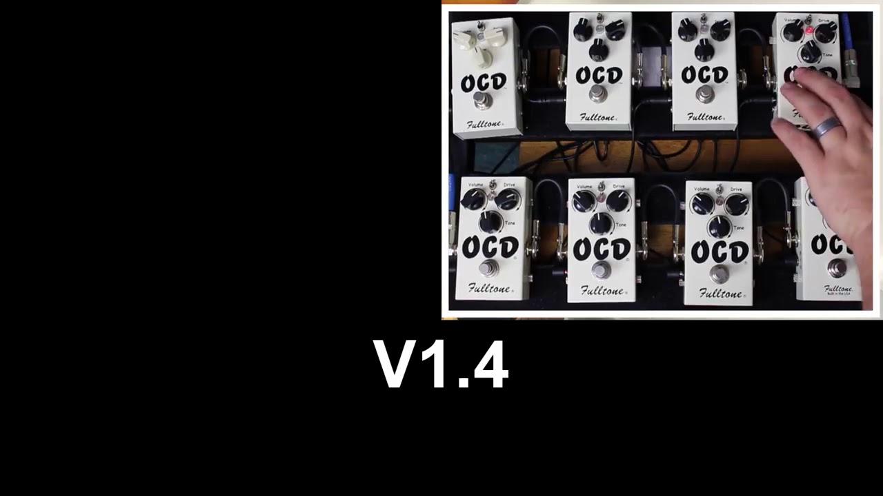 Fulltone OCD V1 vs V2 vs V3 vs V4 vs V5 vs V6 vs V7 vs V2 0 on