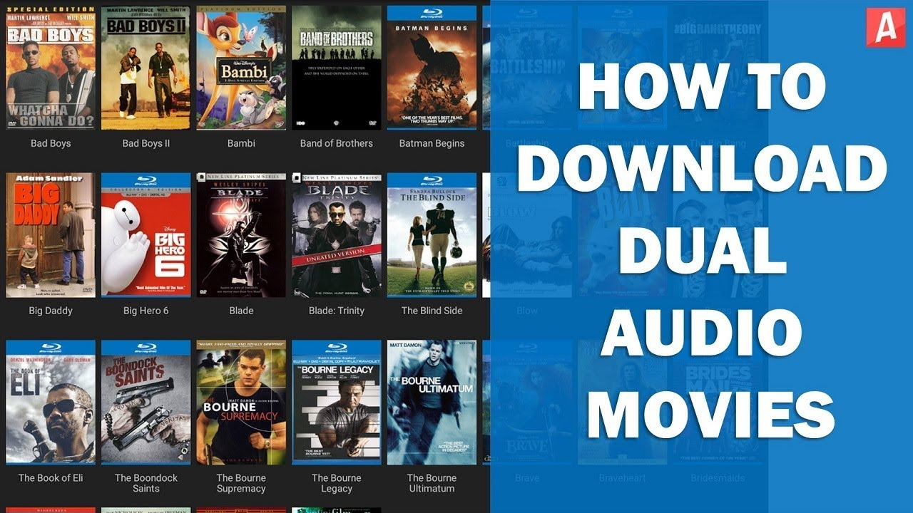 How To Download Dual Audio Movies With Single Click Downloading Blue Ray Quality Youtube