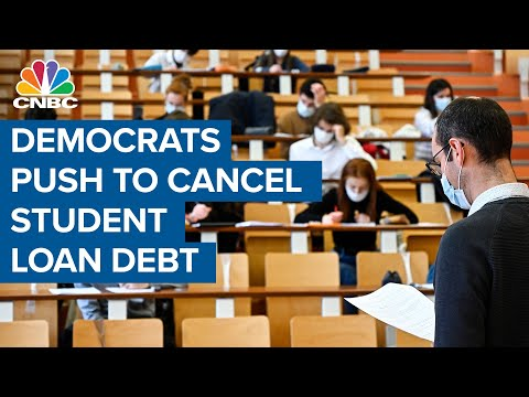 Democrats are pushing to cancel $50,000 in student loan debt
