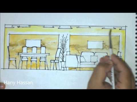 Coloring interior elevation