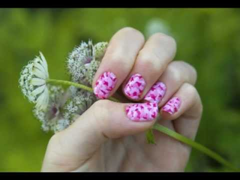 How To Make Pink Camouflage Nails Youtube