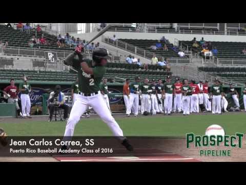 Juan Carlos Correa Prospect Video, SS, Puerto Rico Baseball Academy Class of 2016