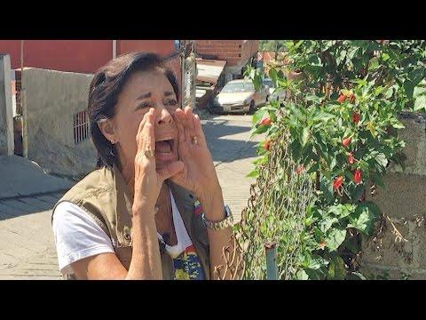 La madre del opositor Leopoldo López habla con su hijo preso a 300m de distancia
