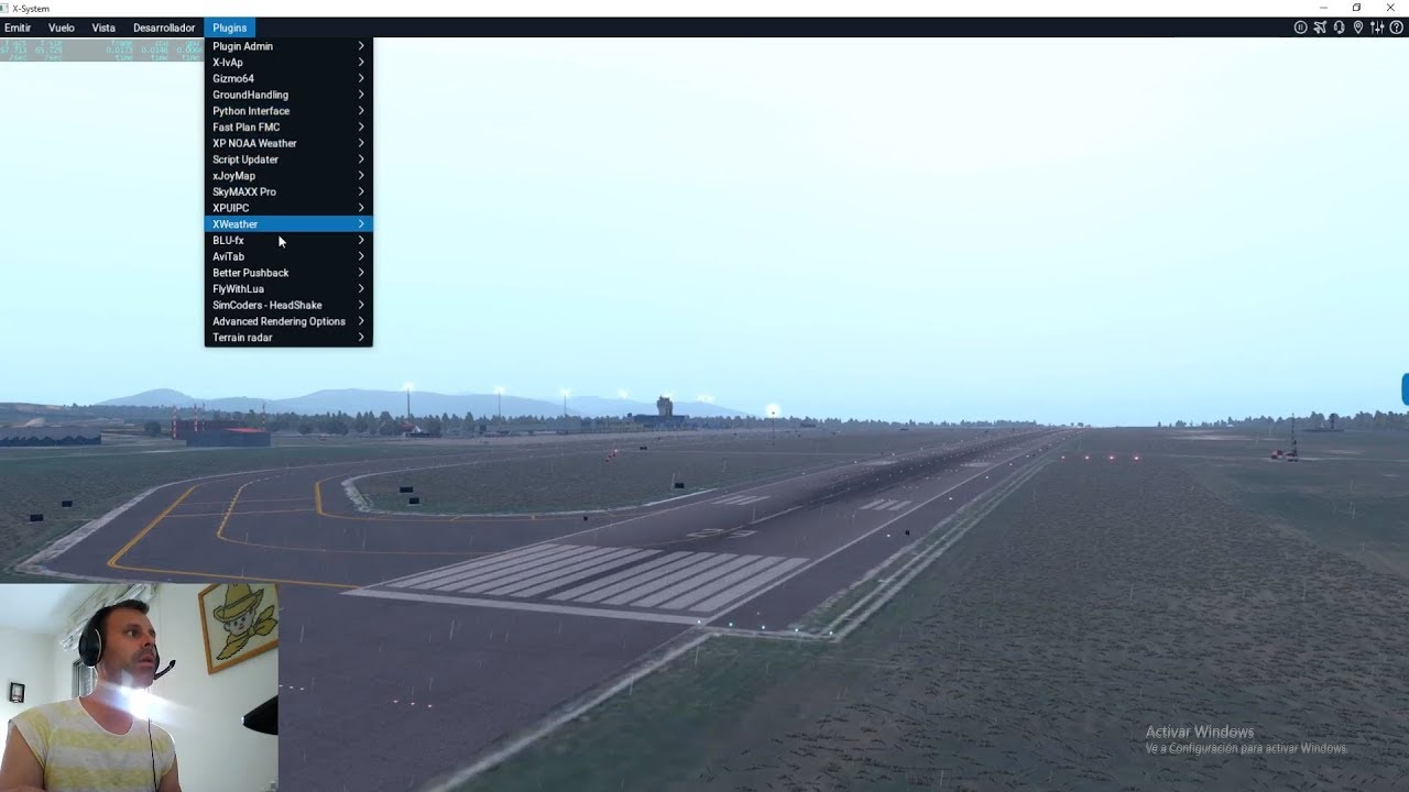 X-Plane 11 |Plugins| Phyton XP NOAA Weather Fly With Lua  Airport  Environment|4#