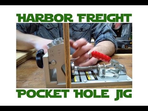 Using the Harbor Freight Pocket Hole Jig for Quick, Simple Drawers