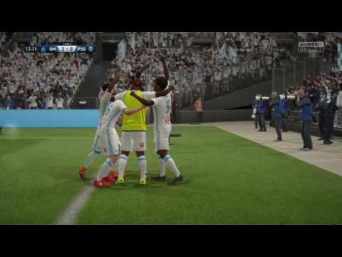Fifa 17. Olympique de Marseille (OM) vs Paris st germain (PSG) + visage des joueurs