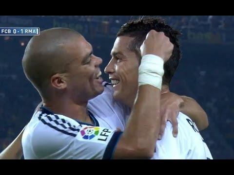 La Liga   Gol de Cristiano Ronaldo (0-1) en el FC Barcelona - Real Madrid