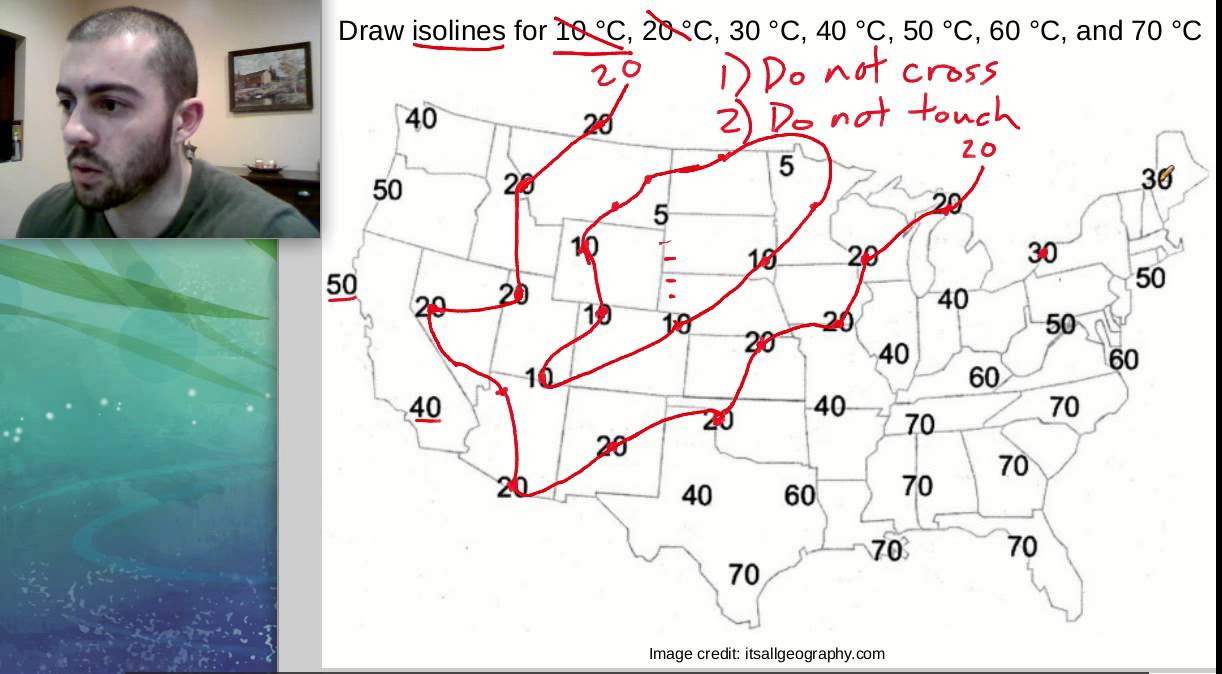How To Draw Isolines On A Weather Map Middle School Science Youtube