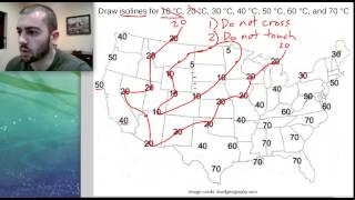 How To Draw Isolines On A Weather Map - Middle School Science