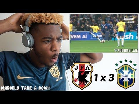 JAPAN 1 x 3 BRAZIL - ALL GOALS & HIGHLIGHTS (10/11/2017) HD 🇧🇷⚽ | Reaction