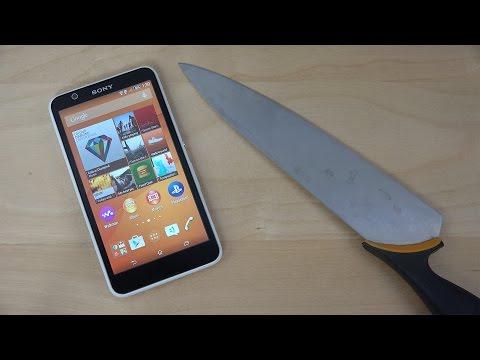 Sony Xperia E4 Knife Fun! (4K)