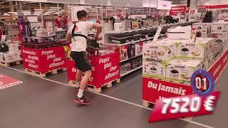 """7600 € in 60 seconds """"Crazy Shopping 2017"""" by Media Markt Lodelinsart (Belgium)"""