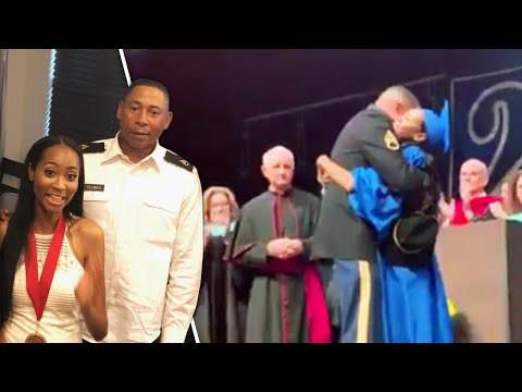 None - Video: Soldier Surprises Daughter At High School Graduation