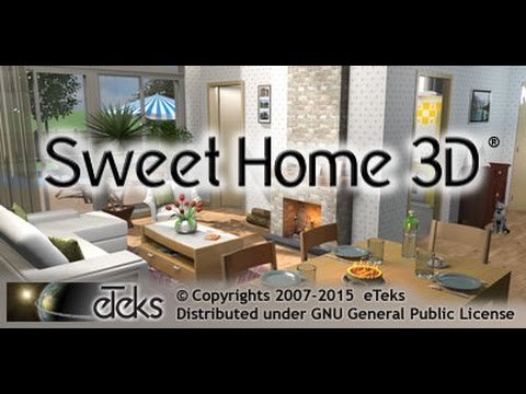 tuto comment t l charger sweet home 3d gratuitement. Black Bedroom Furniture Sets. Home Design Ideas