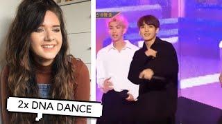 BTS DNA 2x DANCE PERFORMANCE REACTION // ItsGeorginaOkay MP3