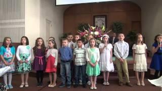 De mic copil am invatat - grupul de copii :Biserica Golgota Portland Oregon