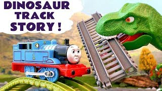 thomas friends train toys dinosaur prank toy trains scary story for kids with tom moss tt4u