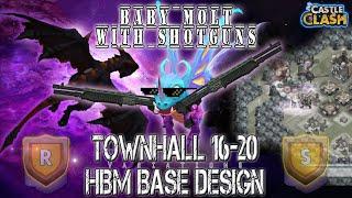 Castle Clash HBM Base: Mod Baby Molt with Shotguns | For TH