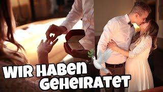 WIR HABEN GEHEIRATET 👰🏼🤵🏼 So war unsere Hochzeit ❤️ | Bibi