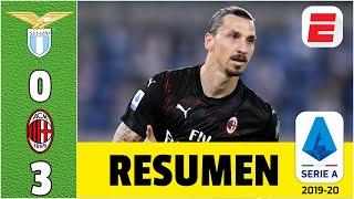 Lazio vs AC Milan RESUMEN de la Serie A | Ibrahimovic vuelve al gol y el Milan se mete en Europa