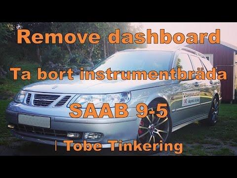 Dashboard Removal, Ta Bort Instrumentpanel │SAAB Tinkering